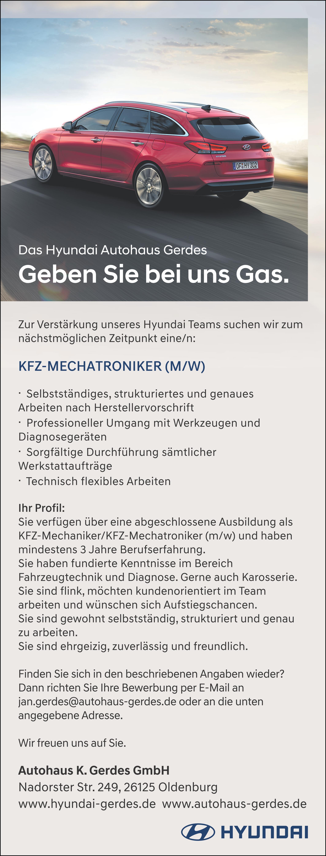 Charmant Wieder Kfz Mechaniker Galerie - Beispielzusammenfassung ...